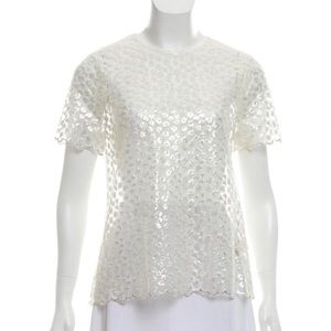 Kate Spade Sheer Lace Top